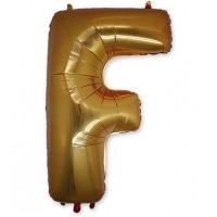 Фольгированная Буква F золото (102 см)